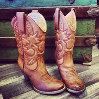 New! Cowboy Boot - Tan