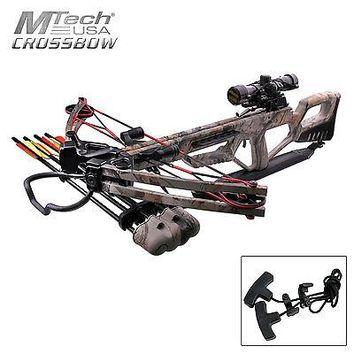 MTech Falcon DX Extreme Composite Crossbow | Camouflage | 370 FPS | 185lb Pull | 4x32mm Scope | PLUS a Sportsman's Guide Exclusive Bonus Kit (a $40.00 value) | 100% Satisfaction Guarantee