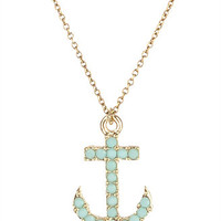 Opaque Anchor Necklace