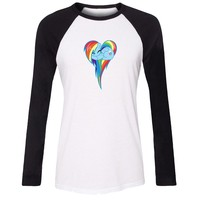 Women T-shirt My Little Pony Rainbow Dash Twilight Sparkle Apple Jack Rarity Fluttershy Pinkie Pie Long Sleeve Girl T shirt Tops
