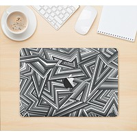 """The Jagged Abstract Graytone Skin Kit for the 12"""" Apple MacBook"""