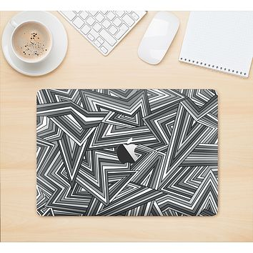 "The Jagged Abstract Graytone Skin Kit for the 12"" Apple MacBook"