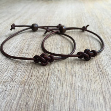 Simple Bracelet, Eternity Bracelets,Couple Bracelets, His and her Bracelet, Couples Jewelry, His and Hers Gifts, Infinity Couple Bracelet, M