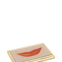 Kate Spade Lips Business Card Holder Clear ONE