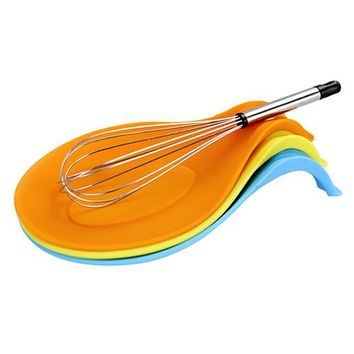 Kitchen Gadgets Silicone Spoon Rest Spatula Holder Cooking Tools