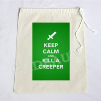 MINECRAFT Keep Calm and Kill A Creeper Gift Bag