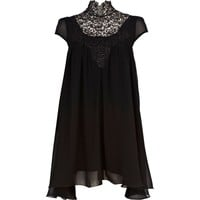 Black Lydia Rose Bright high neck dress - branded dresses - dresses - women