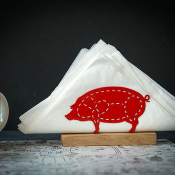 PIG napkin holder metal
