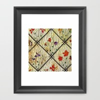 Millefleures in yellow Framed Art Print by Bozena Wojtaszek