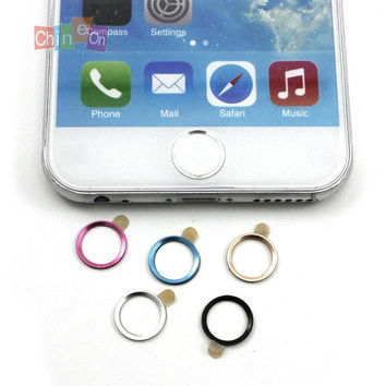 2PCs/Lot Aluminium Metal Round Touch ID Button Stickers Decals for iPhone 6