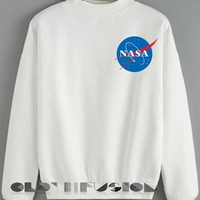 Unisex Crewneck Sweatshirt Nasa Logo Simple Clothfusion