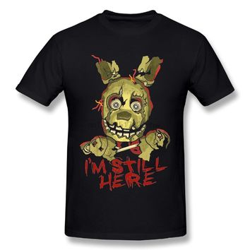 New Arrival Man  At Freddy Springtrap T-Shirts Nice Tee Shirts Round Neck Camiseta Popular t shirt