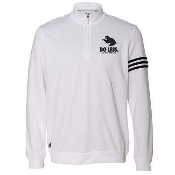 The Adidas 'Do Less' French Terry Pullover Jacket in White