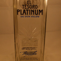 20 Ounce Pure Soy Candle in Reclaimed El Tesoro Platinum Tequila Liquor Bottle - Your Choice of Scent