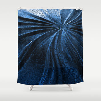 Cold Metal Abstraction Shower Curtain by Cinema4design