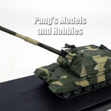 2S19 Akatsiya Msta Self-Propelled Howitzer Artillery - Russia/Soviet - Green Camo -1/72 Scale Model by Panzerkampf