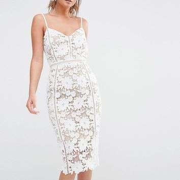 New Look Premium Crochet Lace Bodycon Dress at asos.com