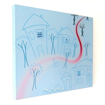 Hidden in the Houses - I Like To Lie acrylic painting (UK Only)