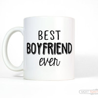 Boyfriend Gift Best Boyfriend Ever Coffee Mug, Large Mug, Mens Anniversary Gift for Boyfriend Mug, Coffee Cup, Valentines Gift for Him