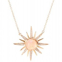 mytheresa.com -  Jacquie Aiche - 14KT ROSE GOLD STARBURST PENDANT NECKLACE WITH PAVÉ DIAMONDS  - Luxury Fashion for Women / Designer clothing, shoes, bags