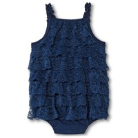Cherokee® Baby Girls' Lace Romper - Nighttime Blue