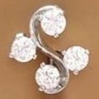 Body Accentz® Reverse Belly Navel Cz Swarovski 4 unique gems Ring body jewelry piercing bar
