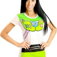 Toy Story Buzz Lightyear Juniors Astronaut Costume White T-shirt