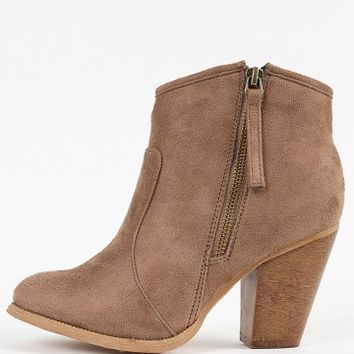 Liliana Romane-1 Zipper Chunky Heel Ankle from Make Me Chic