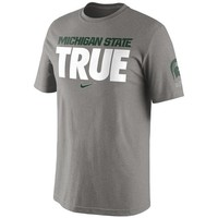 Nike Michigan State Spartans Dark Gray Basketball True T-Shirt