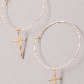 New Fashion Cross Earrings