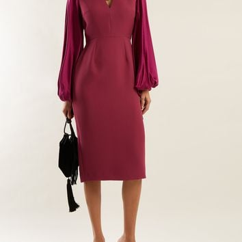 Darya blouson-sleeve crepe dress | Roksanda | MATCHESFASHION.COM US