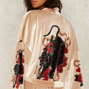 Jaded London Alley Cat Kimono Robe