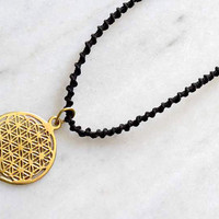 Flower Of Life Pendant - Energy Jewelry - Brass Jewelry - Tribal Jewelry - Geometric Jewelry - Decorated Jewelry