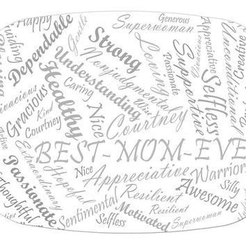 Word Collage Script Fonts Glass Cutting Board for mom