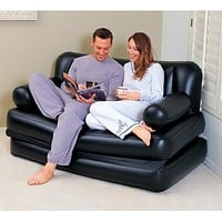 two people seat large bean bag lounger, solid black inflatable air sofa,living room couch sofa,indoor furniture set