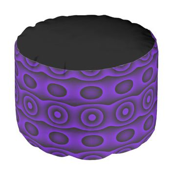 Purple Circles Pouf