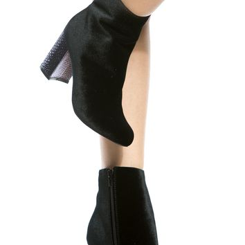 Black Velvet Chunky Ankle Booties @ Cicihot. Booties spell style, so if you want to show what you're made of, pick up a pair. Have fun experimenting with all we have to offer!