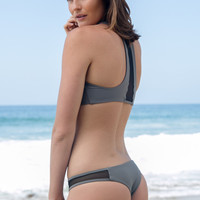 Issa de Mar - Sola Mesh Bottom | Stone Grey