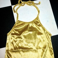 SWEET LORD O'MIGHTY! VELVET HALTER IN GOLD