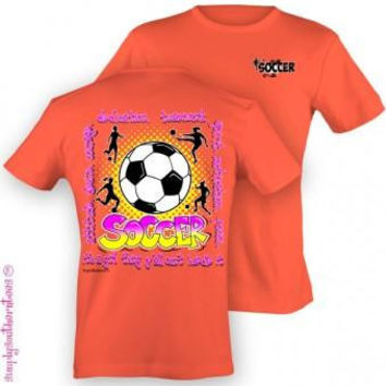 Simply Southern Funny Soccer Girl Sweet Girlie Bright T Shirt