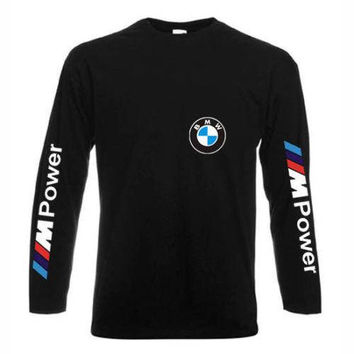 Cotton Long Sleeve Sport Shirt BMW MPower