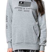 The Flag Pullover Hoodie in Heather Gray
