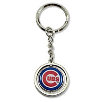 MLB Chicago Cubs Rubber Baseball Spinning Key Ring