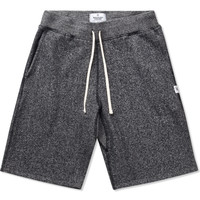 Black/Natural RC-5019-17 Knit Tiger Terry Sweatshort