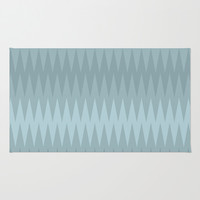 Storming Sea Area & Throw Rug by RBWPictures