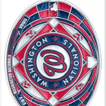"Washington Nationals Stained Glass - 11"" x 17"""