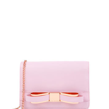 Bow clutch bag - Dusky Pink | Bags | Ted Baker ROW