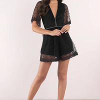 Starry Eyed Lace Romper