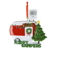 Happy Campers Resin Christmas Ornament, 3-1/2-Inch