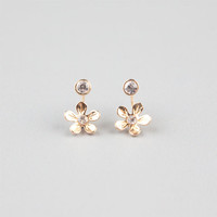 Full Tilt Daisy Front To Back Earrings Gold One Size For Women 24422662101